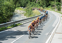 08.07.2017, Wels, AUT, Ö-Tour, Österreich Radrundfahrt 2017, 6. Etappe von St. Johann/Alpendorf nach Wels (203,9 km), im Bild das Feld bei Bischofshofen, Salzburg // the peleton at Bischofshofen Salzburg during the 6th stage from St. Johann/Alpendorf to Wels (203,9 km) of 2017 Tour of Austria. Wels, Austria on 2017/07/08. EXPA Pictures © 2017, PhotoCredit: EXPA/ Reinhard Eisenbauer