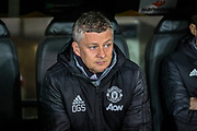 Manchester United Head Coach Ole Gunnar Solskjær Head Coach Ole Gunnar Solskjær during the Europa League match between Club Brugge and Manchester United at Jan Breydel Stadion, Brugge, Belguim on 20 February 2020.