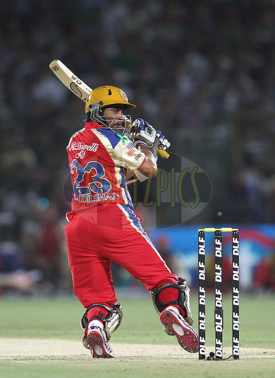 Tilakaratne Dilshan of the Royal Challengers Bangalore during match 30 of the the Indian Premier League (IPL) 2012  between The Rajasthan Royals and the Royal Challengers Bangalore held at the Sawai Mansingh Stadium in Jaipur on the 23rd April 2012..Photo by Shaun Roy/IPL/SPORTZPICS