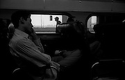 """New Jersey Transit to Newark International Airport...Part of long-term (2005-2008) story """"I See A Darkness"""". New York, NY."""