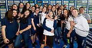 podio serie A2 femmine <br /> da sinistra Centro Nuoto Torino seconda classificata, Gestisport prima classificata, Rari Nantes Torino terza classificata<br /> Riccione 15-04-2018 Stadio del Nuoto <br /> Nuoto campionato italiano a squadre 2018 Coppa Brema<br /> Photo © Giorgio Scala/Deepbluemedia/Insidefoto