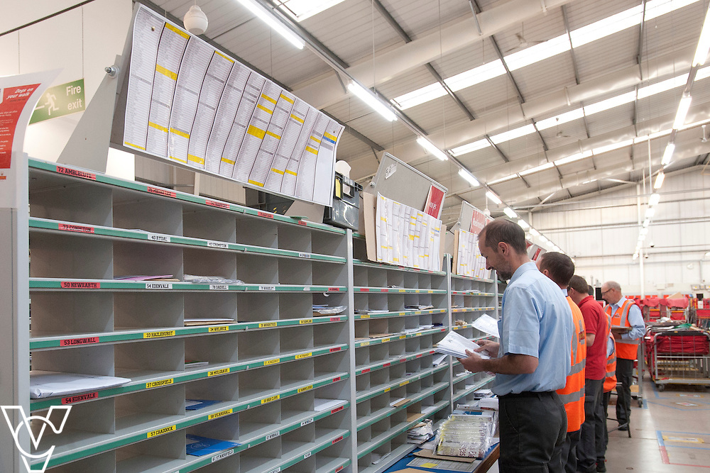 General view of the Royal Mail's North West Delivery Office in Manchester<br /> <br /> Royal Mail - North West Delivery Office.  Bronze in the World Class Mail Awards.<br /> <br /> Date: April 28, 2015