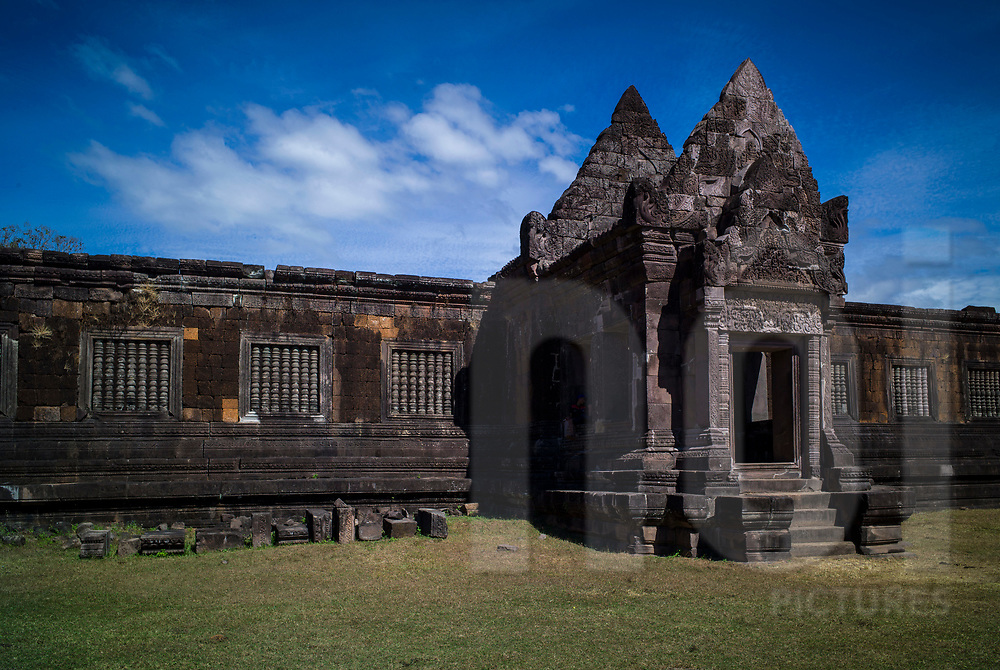 Architecture of Vat Phou temple complex (or Wat Phu), Champassak Province, Laos, Southeast Asia