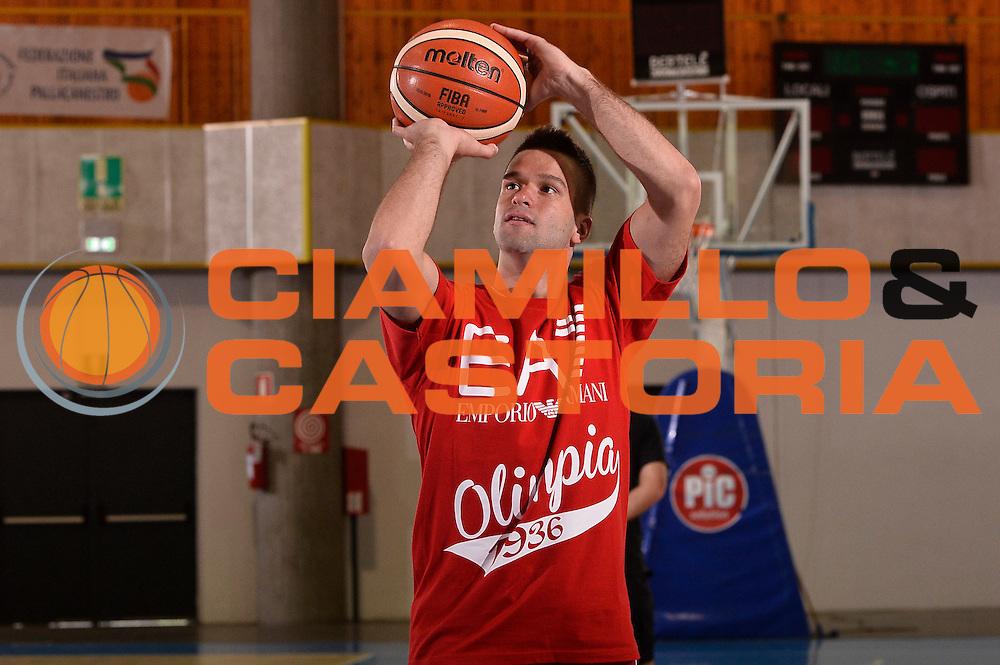 Mantas Kalnietis  <br /> EA7 Emporio Armani Olimpia Milano allenamento <br /> Lega Basket Serie A 2016/2017<br /> Bormio 30/08/2016<br /> Foto Ciamillo-Castoria