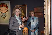 LADY WOLFSON; KATE ROTHSCHILD, Collector's preview of PAD. Berkeley Sq. London. 8 October 2012.
