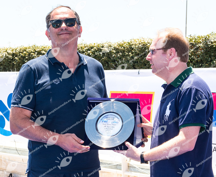 ADZIC Dejan MNE Davide Bordoni<br /> Water Polo Mediterranean Cup<br /> Men Water Polo Tournament Age Group born 1996<br /> Torneo Pallanuoto maschile nati 1996 e seguenti<br /> Polo Natatorio FIN Ostia3 - 6 July 2014<br /> Photo Diego Montano/Deepbluemedia