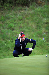 Scotland's Stephen Gallacher on the 10th green during day one of the Betfred British Masters at Hillside Golf Club, Southport.