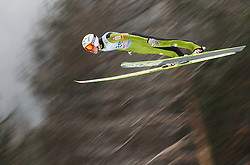 Jurij Tepes of Slovenia soars through the air during the Flying Hill Individual Event at 4th day of FIS Ski Jumping World Cup Finals Planica 2013, on March 24, 2013, in Planica, Slovenia. (Photo by Vid Ponikvar / Sportida.com)
