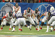 Ole Miss offensive lineman Robert Conyers (75) vs. TCU in the Peach Bowl, in Atlanta, Ga. on Wednesday, December 31, 2014.