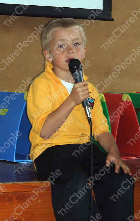 Taking to the stage  at the Funk Fusion stage school fundraising event for autism at St. Flannan's College.