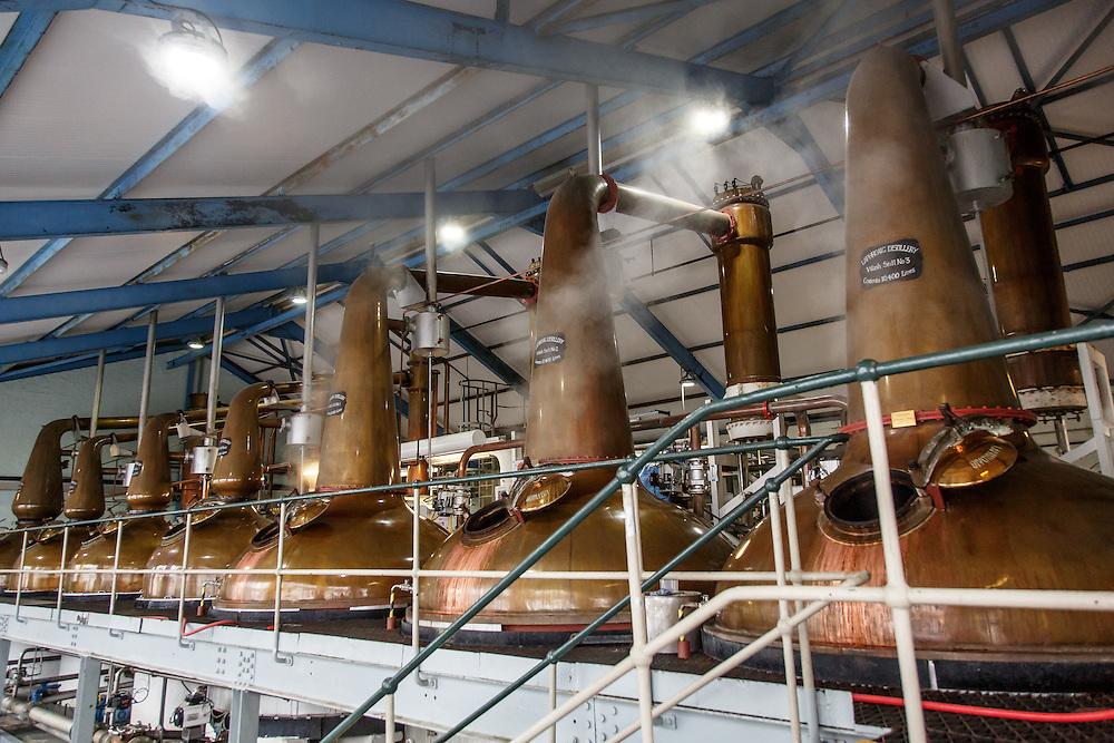 The stills at Laphroaig Distillery at Port Ellen, Isle of Islay, Scotland, July 17, 2015. Gary He/DRAMBOX MEDIA LIBRARY