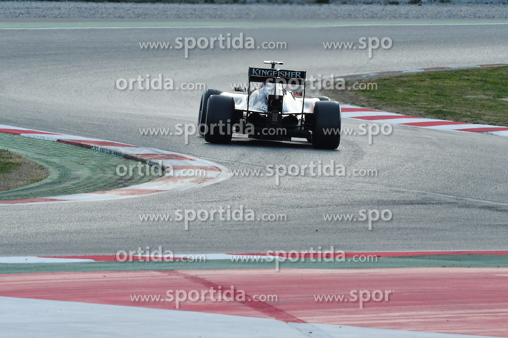 28.02.2015, Circuit de Catalunya, Barcelona, ESP, FIA, Formel 1, Testfahrten, Barcelona, Tag 3, im Bild Nico Hulkenberg (GER) Force India VJM08 // during the Formula One Testdrives, day three at the Circuit de Catalunya in Barcelona, Spain on 2015/02/28. EXPA Pictures &copy; 2015, PhotoCredit: EXPA/ Sutton Images/ Mark Images<br /> <br /> *****ATTENTION - for AUT, SLO, CRO, SRB, BIH, MAZ only*****