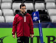 Head Coach Johann van Graan of Munster during the pre match warm up<br /> <br /> Photographer Simon King/Replay Images<br /> <br /> European Rugby Champions Cup Round 1 - Ospreys v Munster - Saturday 16th November 2019 - Liberty Stadium - Swansea<br /> <br /> World Copyright © Replay Images . All rights reserved. info@replayimages.co.uk - http://replayimages.co.uk