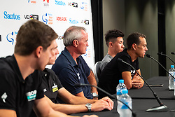 January 12, 2019 - Richie Porte (2R) at TDU Official Race Press Conference, with Mike Turtur, TDU Race Director, Daryl Impey (Mitchelton-SCOTT) 2018 TDU Champion, Peter Sagan (BORA-hansgrohe), Richie Porte (Trek-Segafredo) & Caleb Ewan (Lotto-Soudal), Tour Down Under, Australia on the 12 of January 2019  (Credit Image: © Gary Francis/ZUMA Wire)