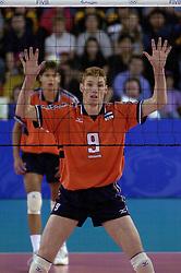 23-09-2000 AUS: Olympic Games Volleybal Nederland - Egypte, Sydney<br /> Nederland wint met 3-1 van Egypte / Bas van de Goor