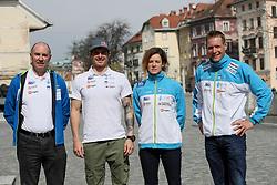 Peter Kauzer, Ursa Kragelj and Benjamin Savsek at press conference of Kayak and Canoe Federation of Slovenia, on March 14, 2017 in Hisa Sporta, Ljubljana, Slovenia. Photo by Matic Klansek Velej / Sportida