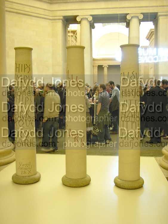 Triennial 2006 Tate Britain,  Millbank. London. 28 February 2006.  ONE TIME USE ONLY - DO NOT ARCHIVE  © Copyright Photograph by Dafydd Jones 66 Stockwell Park Rd. London SW9 0DA Tel 020 7733 0108 www.dafjones.com