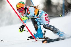 Resi Stiegler of USA during 1st Run of 48th Golden Fox Audi Alpine FIS Ski World Cup Ladies Slalom, on January 22, 2012 in Podkorn, Kranjska Gora, Slovenia. (Photo By Matic Klansek Velej / Sportida.com)