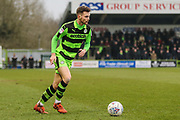 Forest Green Rovers Alex Bray(31) during the EFL Sky Bet League 2 match between Forest Green Rovers and Mansfield Town at the New Lawn, Forest Green, United Kingdom on 24 March 2018. Picture by Shane Healey.