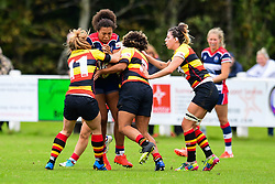 Rownita Marston of Bristol Ladies is tackled by Maria Gyolcsos of Richmond ladies - Mandatory by-line: Craig Thomas/JMP - 17/09/2017 - Rugby - Cleve Rugby Ground  - Bristol, England - Bristol Ladies  v Richmond Ladies - Women's Premier 15s