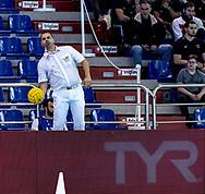 Stanojevic - Referee<br /> HUN - GRE Hungary (white cap) -Vs. Greece (blue cap)<br /> LEN Europa Cup Men 2018 finals<br /> Water Polo, Pallanuoto<br /> Rijeka, CRO Croatia<br /> Day01<br /> Photo &copy; Giorgio Scala/Deepbluemedia/Insidefoto