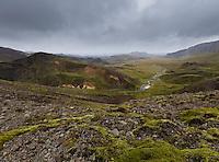 Rigning og vindur við Þverárdal