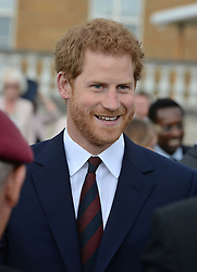 Prince Harry during the Not Forgotten Association Annual Garden Party at Buckingham Palace, London.