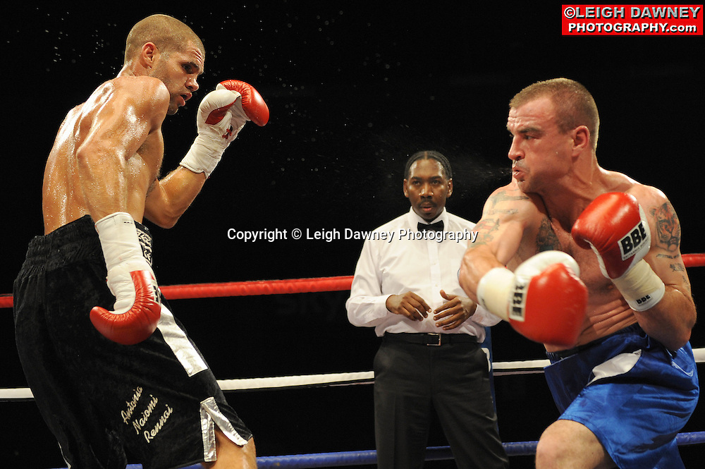 Tony Hill defeats Phillip Townley at the Brentwood Centre on 25th June 2010.Frank Maloney Promotions. Photo credit: © Leigh Dawney