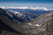 Keystone Ski Area and Ten Mile Range, Summit County, Colorado, Winter