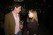 Crispian Cuss and Leonora Gummer, Spring party at Frankie Dettori's bar and Grill. 3 Yeoman's Row. London sw3. 10 April 2006. ONE TIME USE ONLY - DO NOT ARCHIVE  © Copyright Photograph by Dafydd Jones 66 Stockwell Park Rd. London SW9 0DA Tel 020 7733 0108 www.dafjones.com