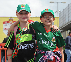 Mayo supporters Eimear Ruane and Molly Ginnelly on their way McHale Park.<br />