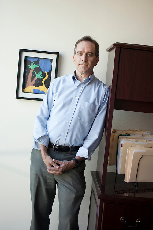 Michael Keough, executive director of Inclusive Health, an umbrella organization that administers the North Carolina state and federal high-risk health insurance pools, at his office in Raleigh, N.C., USA, Thurs., Aug. 26, 2010. The North Carolina state high-risk pool will continue because people already in the pool will not be eligible to switch to the federal pool with lower costs and better benefits...Photo by D.L. Anderson for AARP.Model Released.Editor: Michael Wichita, Ilene Bellovin .AARP Bulletin - State News - NC- Highrisk Pool..