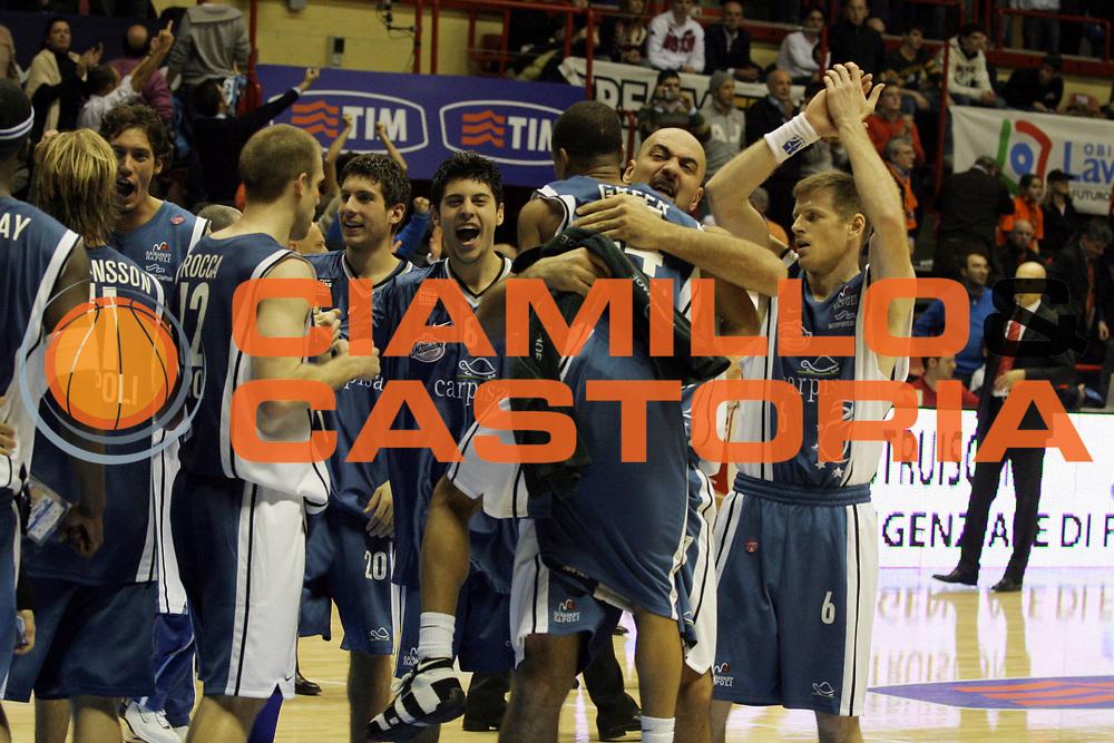 DESCRIZIONE: Forli Lega A1 2005-06 Coppa Italia Tim Cup Armani Jeans Olimpia Milano Carpisa Napoli<br />GIOCATORE: Team Carpisa Napoli Morena Greer<br />SQUADRA: Carpisa Napoli<br />EVENTO: Campionato Lega A1 2005-2006 Coppa Italia Final Eight Tim Cup Quarti Finale<br />DATA: 17/02/2006<br />CATEGORIA: Esultanza<br />SPORT: Pallacanestro<br />AUTORE: Agenzia Ciamillo-Castoria/G.Ciamillo<br />Galleria: Coppa Italia 2005-2006<br />Fotonotizia: Forli Campionato Italiano Lega A1 2005-2006 Coppa Italia Final Eight Tim Cup Quarti Finale Armani Jeans Olimpia Milano Carpisa Napoli<br />Predefinita: