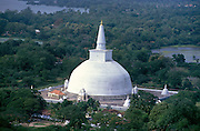 Sri Lanka..The Ruwanweliseya dagoba (stupa) in Anuradhapura.