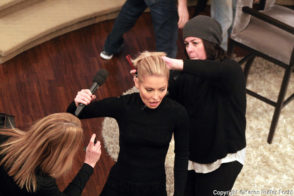 KELLY RIPA during a makeup break this week on her show Live With Kelly.
