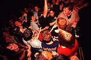 Hardcore/Metal band crowd at The Forum, Kentish Town, London, U.K 2004.
