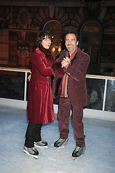 ROBERT LINDSAY and ROSEMARIE FORD at the opening of the Somerset House ice Rink for 2008 sponsored by Tiffany & Co held at Somerset House, The Strand, London on 18th November 2008.
