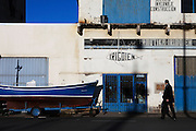 The fishing port in Getaria.