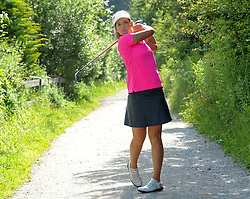 "05.07.2016, Olympia Golfplatz, Igls, AUT, Olympia Golf Igls, Fototermin, Olympische Spiele, Rio 2016, im Bild Christine Wolf (AUT) // Christine Wolf of Austria during a photocall of the Olympia Golf Igls prior to the Olympics games ""Rio 2016"". Austria on 2016/07/05. EXPA Pictures © 2016, PhotoCredit: EXPA/ Erich Spiess"