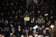 Pomigliano D'Arco, Italia - Luigi Di Maio, candidato premier per il Movimento Cinque Stelle durante un comizio a Pomigliano D'Arco. Pomigliano D'Arco &egrave; la citt&agrave; di origine del candidato pentastellato. Di Maio &egrave; stato accolto con molto entusiasmo.<br /> Ph. Roberto Salomone