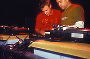 Two DJs at Ministry of Sound, Millenium Dome, New Years Eve, London, U.K, 2001.