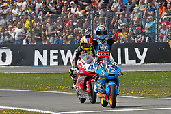 23.09.2012, TT Circuit, Assen, NED, MotoGP, Assen, im Bild 12 Alex Marquez, 4 Gabriel Ramos // during the MotoGP Iveco TT Assen at the TT Circuit in Assen, Netherlands on 2012/09/23. EXPA Pictures © 2014, PhotoCredit: EXPA/ Eibner-Pressefoto/ FOTO-SPO_AG<br /> <br /> *****ATTENTION - OUT of GER*****