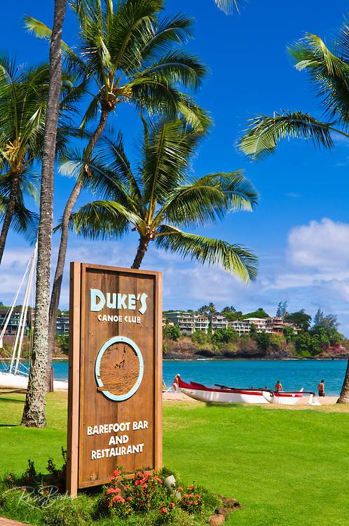 Dukes Restaurant at the Kauai Marriott Resort, Island of Kauai, Hawaii