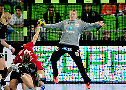 Cecilie Leganger of Larvik during handball match between RK Krim Mercator and Larvik HK (NOR) of Women's EHF Champions League 2011/2012, on November 13, 2011 in Arena Stozice, Ljubljana, Slovenia. Larvik defeated Krim 22-19. (Photo By Vid Ponikvar / Sportida.com)