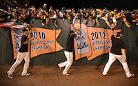SAN FRANCISCO, CA - OCTOBER 7:  Members of the San Francisco Giants during GAME 4 of the NLDS against the Washington Nationals at AT&T Park on Tuesday, October 7, 2014 in San Francisco, California. (Photo by Jed Jacobsohn/MLB Photos via Getty Images) *** Local Caption *** Ryan Vogelsong