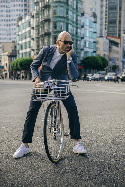 Vaughn Brown, founder of Parker Dusseau apparel, San Francisco | Bicycling Magazine