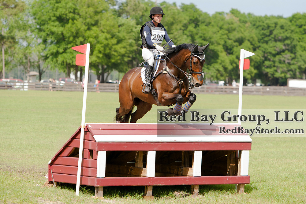 Elinor MacPhail (USA) and RF Eloquence at the 2014 Ocala Horse Properties International 3-Day Event in Ocala, Florida.