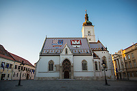Zagreb, Croatia- May 7, 2015: St. Mark's Church resides in Gradec, which along with Kaptol, constitutes the nucleus of medieval Zagreb. CREDIT: Chris Carmichael for The New York Times