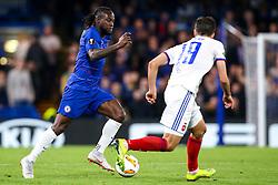 Victor Moses of Chelsea takes on Boban Nikolov of Vidi - Mandatory by-line: Robbie Stephenson/JMP - 04/10/2018 - FOOTBALL - Stamford Bridge - London, England - Chelsea v Vidi - UEFA Europa League Group L
