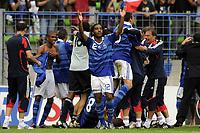 FOOTBALL - UEFA EURO 2010 UNDER 19 - FINAL - FRANCE  v SPAIN  - 30/07/2010  - PHOTO JEAN MARIE HERVIO / DPPI - JOY ALEXANDRE LACAZETTE (FRA) AT THE END OF THE MATCH